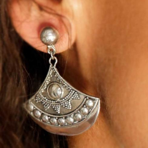 Boucles d'oreilles en argent balinaises