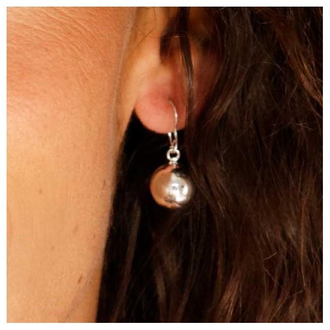 Sterling Silver Ball Drop Earrings - SILVER EARRINGS - Boutique Nirvana