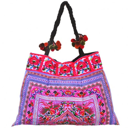 Grand sac ethnique broderies Ayanna - SACS - Boutique Nirvana