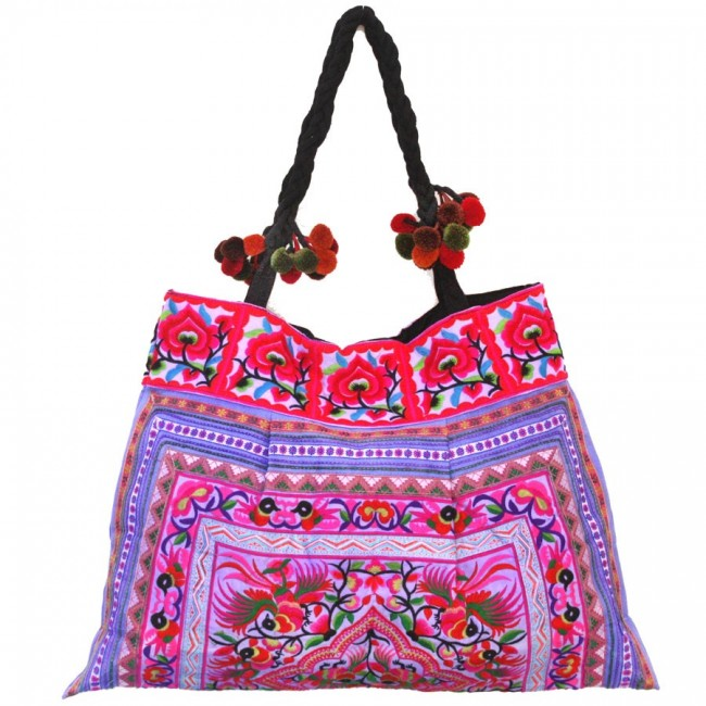 Grand sac ethnique broderies Ayanna - BAGS - Boutique Nirvana