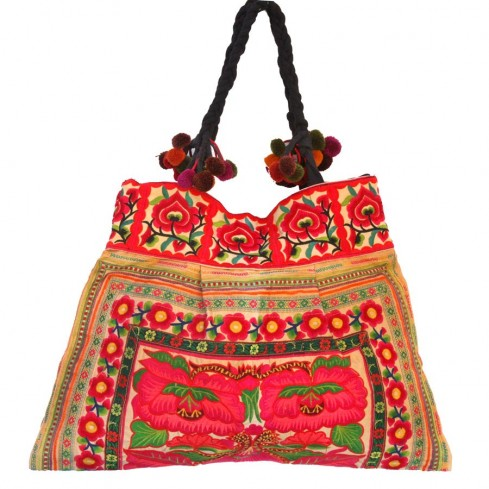 Grand sac ethnique broderies Ceylan - SACS - Boutique Nirvana