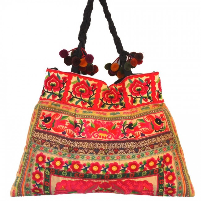 Grand sac ethnique broderies Ceylan - BAGS - Boutique Nirvana