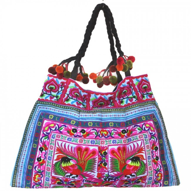 Grand sac ethnique broderies Cholena - BAGS - Boutique Nirvana