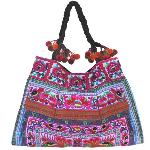 Grand sac ethnique broderies Cholena - SACS - Boutique Nirvana