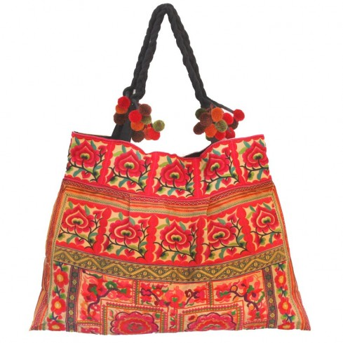Grand sac ethnique broderies Ojalee - BAGS - Boutique Nirvana