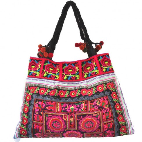 Grand sac ethnique broderies Ojalee - SACS - Boutique Nirvana