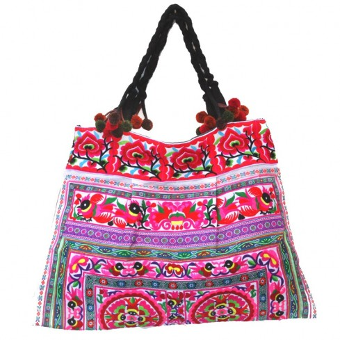 Grand sac ethnique broderies Mandala - SACS - Boutique Nirvana