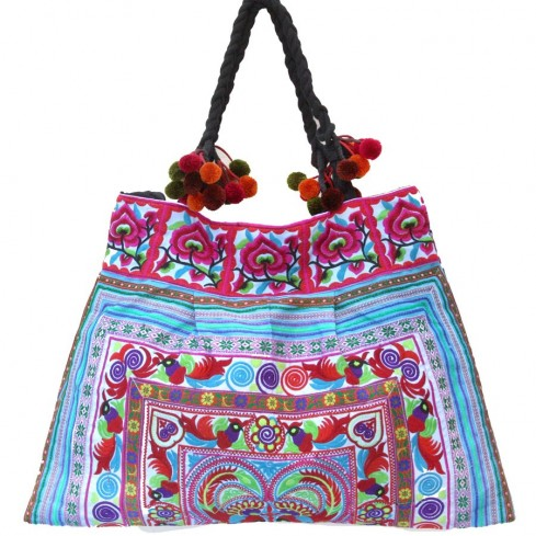 Grand sac ethnique broderies Bali - SACS - Boutique Nirvana