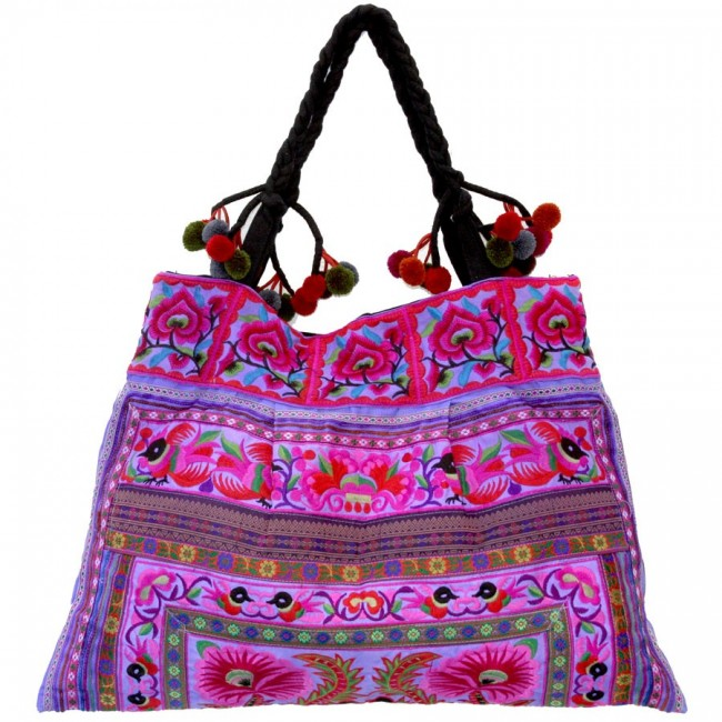 Grand sac ethnique broderies Nita - BAGS - Boutique Nirvana