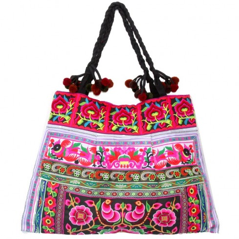 Grand sac ethnique broderies Kiona - SACS - Boutique Nirvana