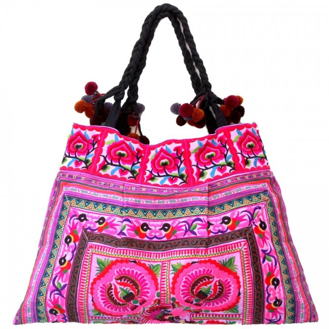 Grand sac ethnique broderies India - BAGS - Boutique Nirvana