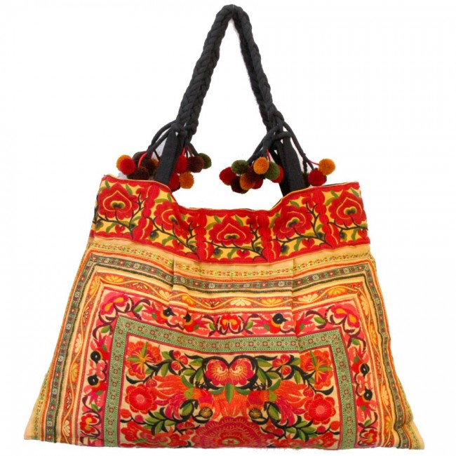 Grand sac ethnique broderies Macao - BAGS - Boutique Nirvana