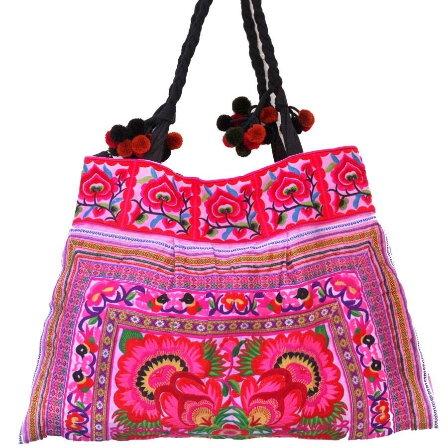 Grand sac ethnique broderies Rainbow - BAGS - Boutique Nirvana