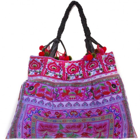Grand sac ethnique broderies Jungle - SACS - Boutique Nirvana