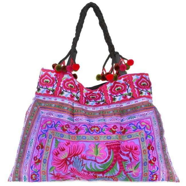 Grand sac ethnique broderies Jungle - BAGS - Boutique Nirvana