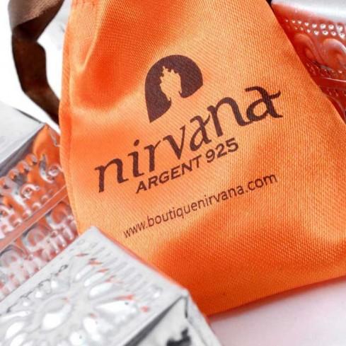Boucles d'oreilles plume d'argent et pierre - SILVER EARRINGS - Boutique Nirvana