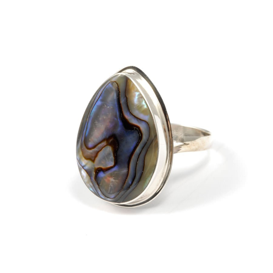 Bague argent pierre fine goutte - Silver Rings - Boutique Nirvana