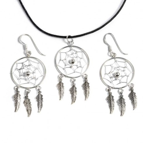 Boucles d'oreilles capteur de rêve 3 plumes - CAPTEURS DE RÊVES - Boutique Nirvana