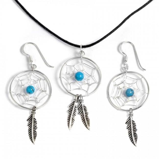 Boucles d'oreilles grands capteurs de rêves 1 plume - CAPTEURS DE RÊVES - Boutique Nirvana