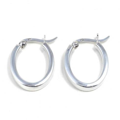 Petites créoles ovales - BIJOUX ARGENT - Boutique Nirvana