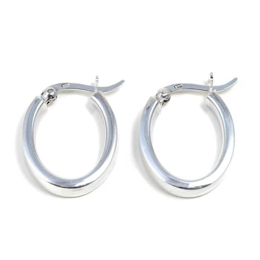 Petites créoles ovales - CREOLES ARGENT - Boutique Nirvana