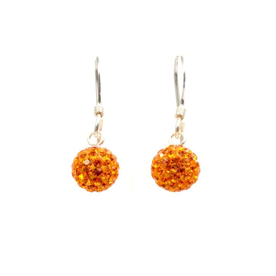 boucles d'oreilles pendantes orange