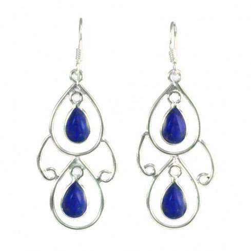 Elegant Two-Stone Drop Earrings - Mineral Gemstones - Boutique Nirvana