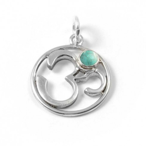 Om Pendant with Natural Stone - PIERRES FINES - Boutique Nirvana