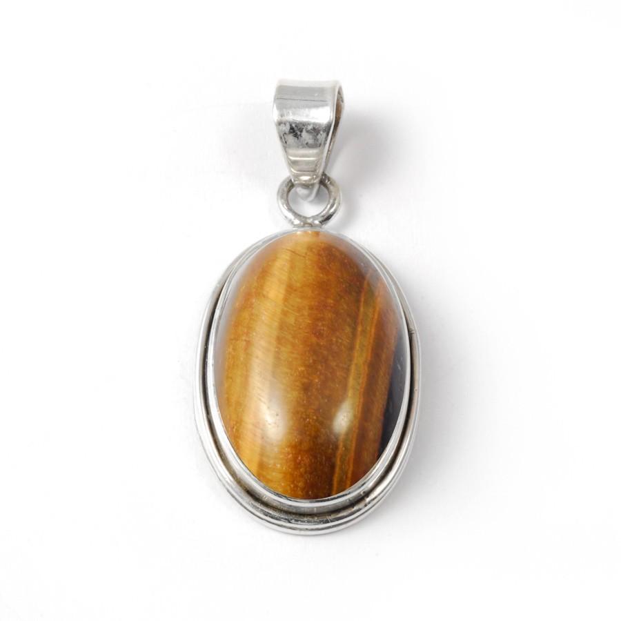 Oval Cabochon Stone Pendant - PIERRES FINES - Boutique Nirvana