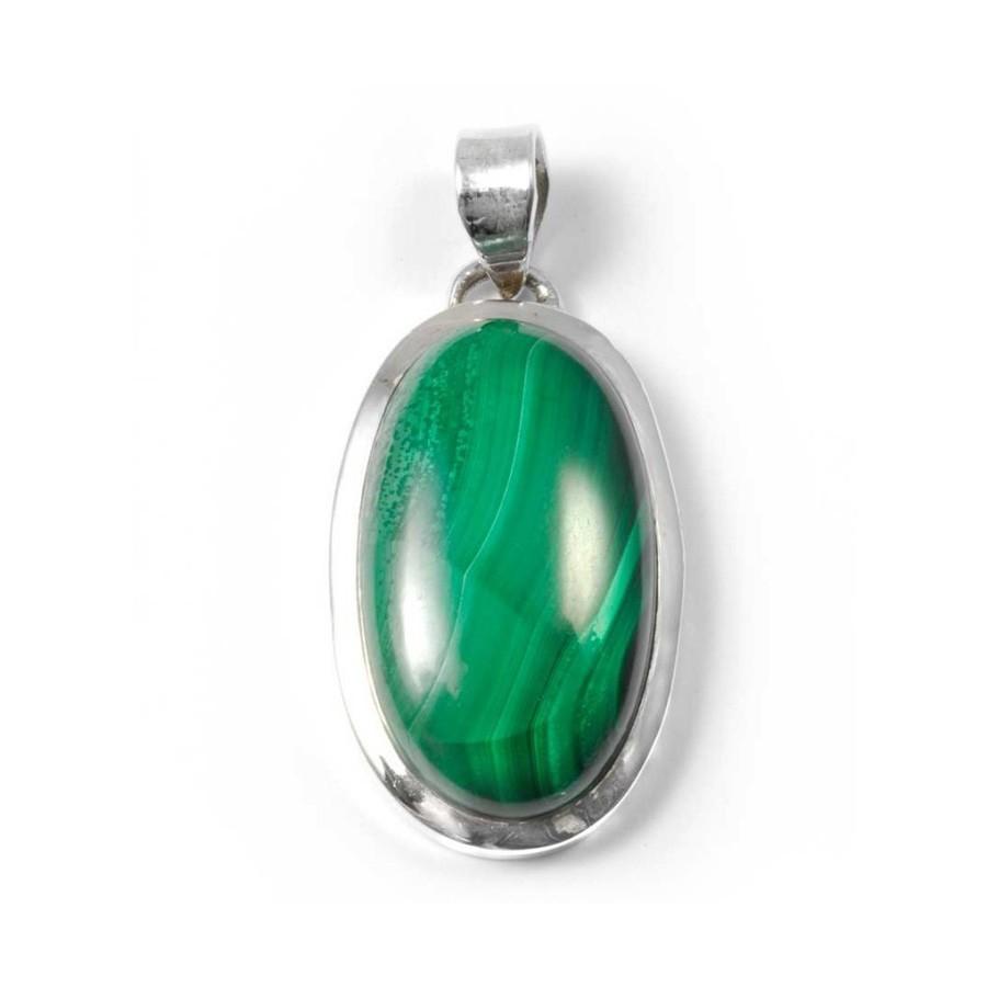 Pendentif épais et pierre ovale moyenne - PIERRES FINES - Boutique Nirvana