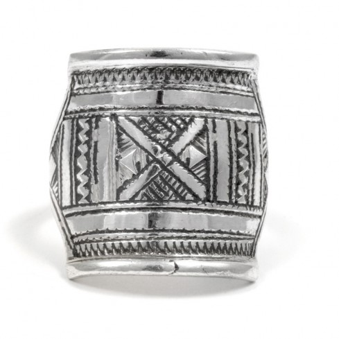 Bague Touareg rectangulaire - TOUAREG - Boutique Nirvana