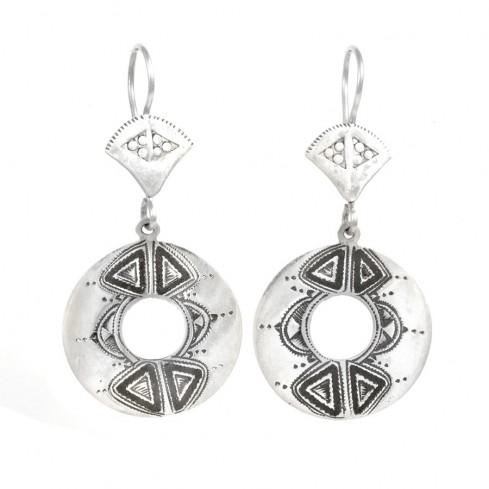 Boucles d'oreilles argent Touareg Dorisa - TOUAREG - Boutique Nirvana