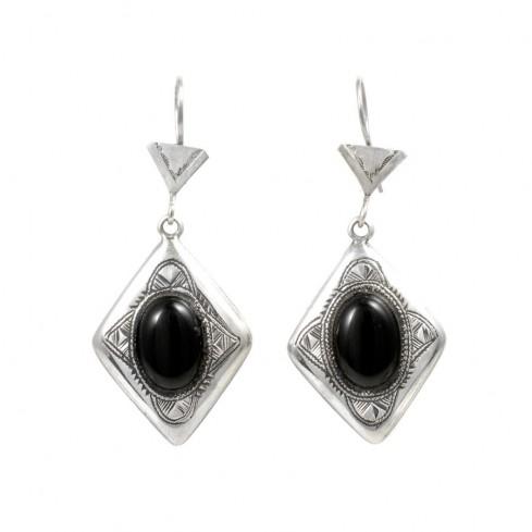 Boucles d'oreilles argent Touareg Kahina - TOUAREG - Boutique Nirvana