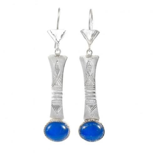 Boucles d'oreilles argent Touareg Aldjiya - TOUAREG - Boutique Nirvana