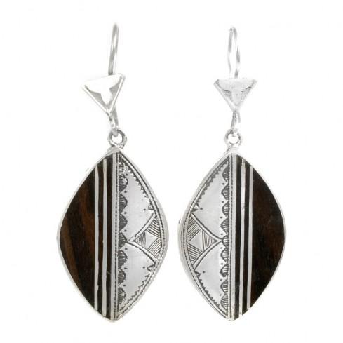 Boucles d'oreilles argent Touareg Bamu - TOUAREG - Boutique Nirvana
