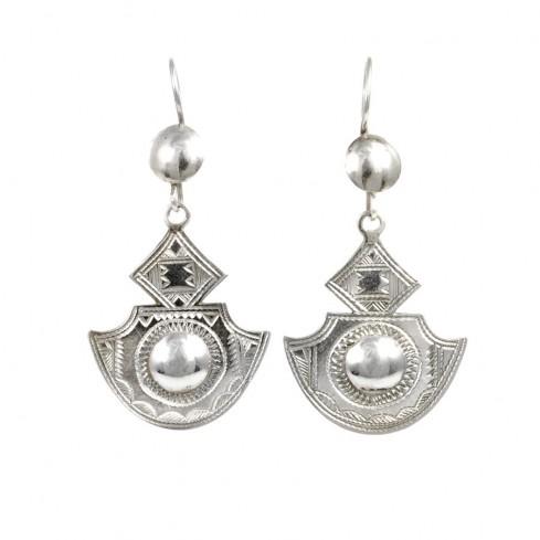 Boucles d'oreilles argent Touareg Amia - TOUAREG - Boutique Nirvana
