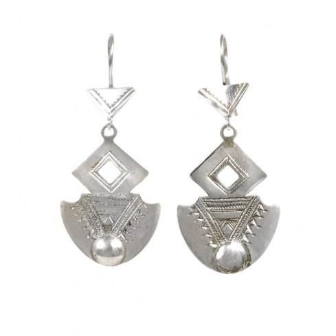 Boucles d'oreilles argent Touareg Thanina - TOUAREG - Boutique Nirvana