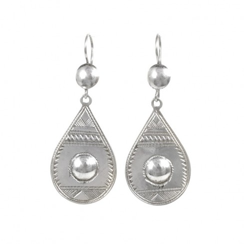 Boucles d'oreilles argent Touareg Lehna - BIJOUX ARGENT - Boutique Nirvana
