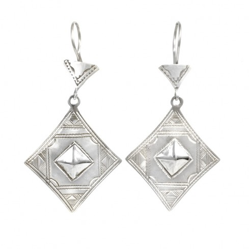 Boucles d'oreilles Touareg Ayura - Silver Jewellery  - Boutique Nirvana