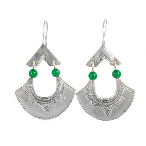 Boucles d'oreilles argent Touareg Malha - TOUAREG - Boutique Nirvana