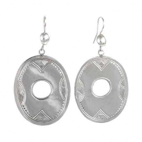 Boucles d'oreilles argent Touareg Adza - TOUAREG - Boutique Nirvana