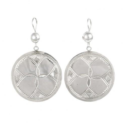 Boucles d'oreilles argent Touareg Azura - TOUAREG - Boutique Nirvana