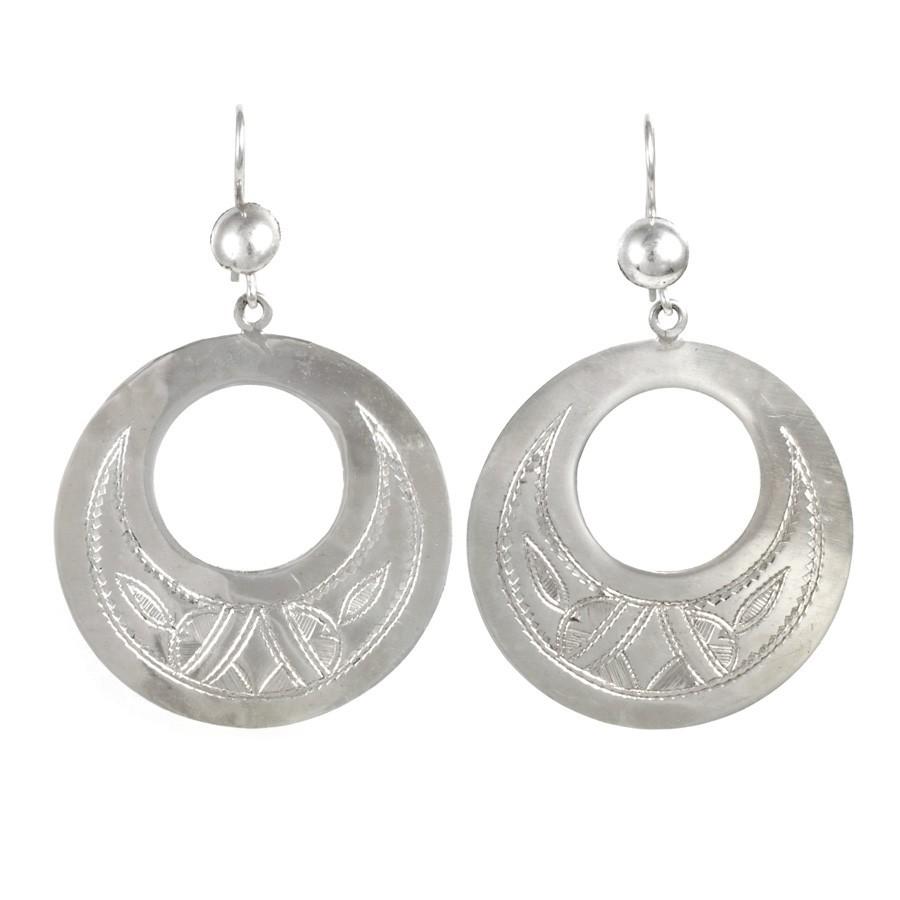 Boucles d'oreilles Touareg rondes trouées - TOUAREG - Boutique Nirvana
