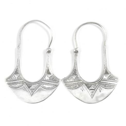Boucles d'oreilles argent Touareg Thamilia - TOUAREG - Boutique Nirvana