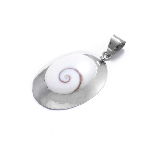 Grand pendentif Oeil de Sainte Lucie oval - Eye of Shiva - Boutique Nirvana