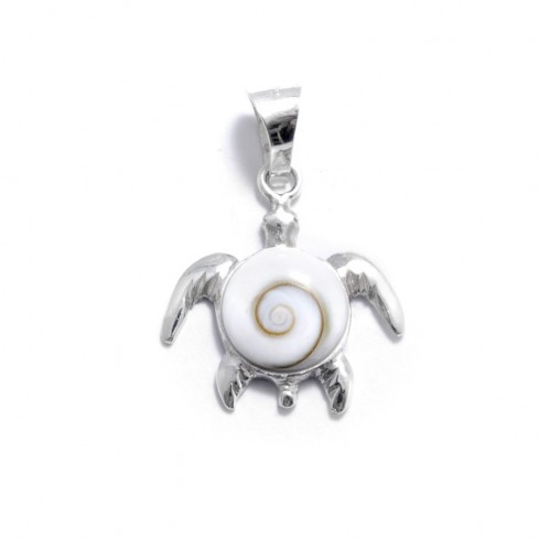 Pendentif tortue Oeil de Sainte Lucie - Eye of Shiva - Boutique Nirvana