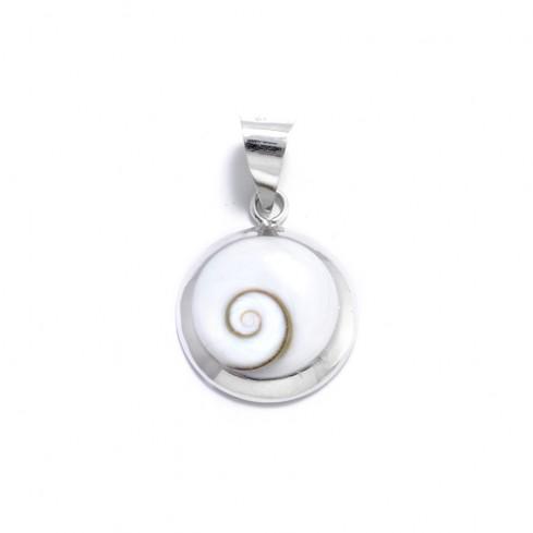 Petit pendentif contour arrondi Oeil de Sainte Lucie - Eye of Shiva - Boutique Nirvana