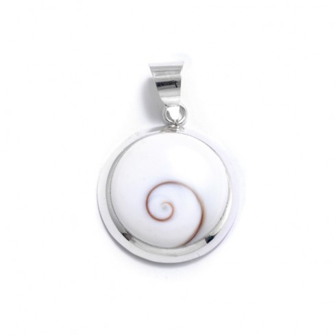 Grand pendentif contour arrondi Oeil de Sainte Lucie - Eye of Shiva - Boutique Nirvana