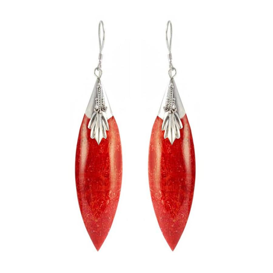 Boucles d'oreilles argent fuseau - Silver Jewellery  - Boutique Nirvana