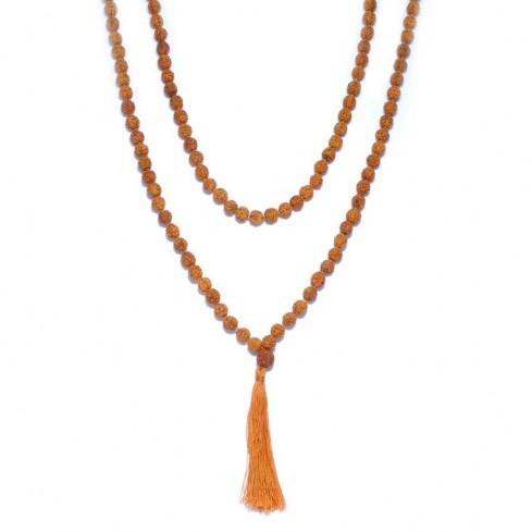Mala perles rudraksha
